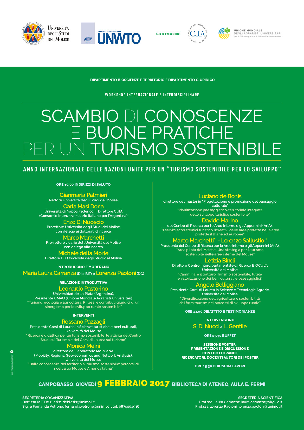 Workshop turismo sostenibile